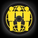 THIRD MAN MERCHANDISE - ROUND 45RPM ADAPTER (BLACK WITH YELLOW)